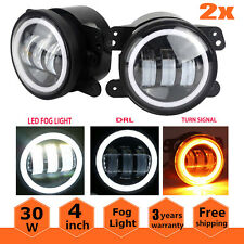 2X 4 inch LED Foglights Fog Lamps Offroad Driving Bulbs 30W For Hummer H1 H2 US