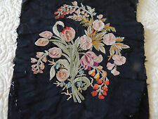 VERY FINE VINTAGE ANTIQUE Embroidery from 1900 very unique NEED BE FRAMED 11X 8