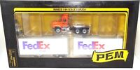 1:64 P.E.M. MACK TRUCK WITH TWO 28' FEDEX TRAILERS - MINT BOXED - RARE