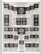 1932 PAPER AD Knights Of Columbus Elks Odd Follows Pythias Eagle Shriners Rings