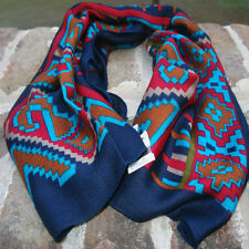 """Scarf - Indian- 100% rayon - 32"""" x 30"""" - made in Italy - new with tag"""