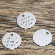 10pcs wish upon a star charm silver tone message charm pendant 20mm