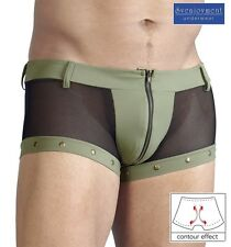 Svenjoyment Knack-Po Netz Shorts Pants Hipster Front-Zip Jeans-Style NEU in M