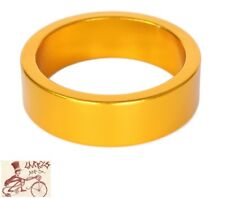 """ORIGIN8 ALLOY 10mm x 1-1/8""""  ANODIZED GOLD BICYCLE HEADSET SPACERS--BAG OF 10"""