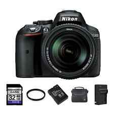 Nikon D5300 DSLR Camera w/18-140mm Lens - Black + 2 Batteries, 32GB & More