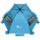 3-4 Person pop up beach tent sun shelter Steel Stake Outdoor Camping Family New
