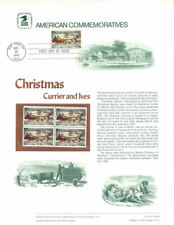 #41 10c Currier & Ives Christmas #1551  USPS Commemorative Panel w/tied #1551