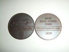 """1989 Porsche Christophorus Calendar Coin Münze """"Porsche Indy"""" RARE! Awesome L@@K"""