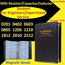 SMD Resistors/Capacitors/Inductor/Zener Diode/Transistor Triode Samples Book Kit