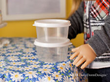 Round FOOD STORAGE CONTAINER for American Girl Doll House Kitchen Bakery Sweets
