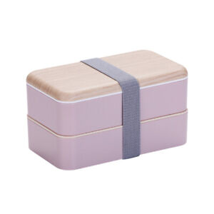 Double Layer Plastic Lunch Box Microwave Oven Portable Bento Box Food Containers