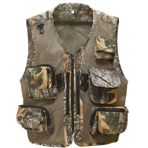 Camouflage Fishing Vest with Multi-Pockets for Fishing,Hunting, Hiking, Climbing