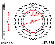 YAMAHA XJ600 JT FRONT AND REAR SPROCKET  JTR855-48 JTf582.16