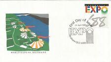 Australia Fdc 1988 World Expo 88 Brisbane