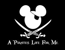 A Pirate's Life For Me shirt Disney Adult Youth Pirates of the Carribean Mickey