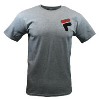 FILA Mens T Shirt S M L XL 2XL Logo Graphic Sports Apparel Athletic Tee GRAY NEW