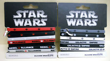 12 pcs STAR WARS galactic empire rebel alliance 2 x 6 pack SILICONE BRACELETS