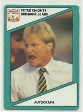 AFL SCANLENS STIMOROL 1988 BRISBANE BEARS PETER KNIGHTS COACH #122 CARD