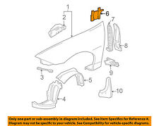 Partslink Number GM1249115 OE Replacement Chevrolet Cavalier Front Passenger Side Fender Inner Panel