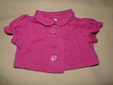 Gilet rose fuchsia manches courtes boutonné C&A pr bébé fille 6 mois 68 cm - TBE