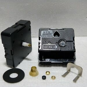 Replacement Quartz UTS euroshaft clock movement, short (11mm) shaft
