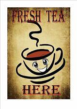 Tea Shop Cafe Sign Vintage Style Cafe Sign Shop Sign  Tea Room Sign Kitchen Sign