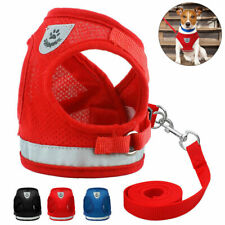Breathable Dog Cat Mesh Harness Vest Leash Walking Leads For Small Medium Pets