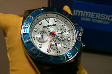 immersion mens watch stainless steel chronograph silicon strap wb131585