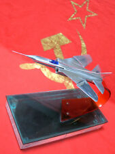 Vintage model military aircraft FIGHTER MIG 23 metal handmade Soviet Russia USSR