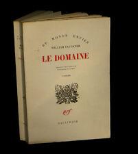 FAULKNER (William) - Le Domaine. EO fr.