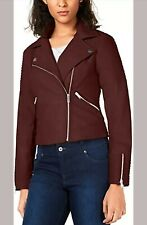 BAR III QUILTED MOTO JACKET – COCOA RED  RRP £80 Size 8