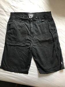 REEF Mens Chino Shorts Black Size 30