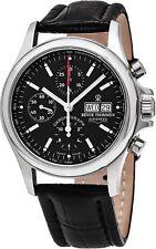 Revue Thommen Men's Pilot Leather Strap Chronograph Automatic Watch 17081.6534