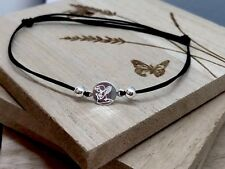 Angel Engraved Handmade Bracelet 925 St Silver Baby Kid Mom Dad Gift ❤️