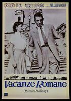 Werbeplakat Vermietungen Romane Piaggio Vespa Audrey Hepburn Gregory Peck A