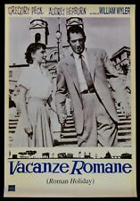 P01 POSTER VACANZE ROMANE VESPA PIAGGIO AUDREY HEPBURN GREGORY PECK A WYLER
