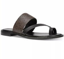 NIB Michael Kors Pratt Flat Sandals, Brown/Black Mult-Sizes