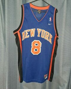 NBA New York Knicks #8 Sprewell Vintage Nike Basketball Jersey Medium Top Vest M