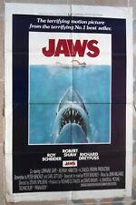 "JAWS Original US One Sheet movie Poster Steven Spielberg 27""x41"" Film 1975 F/VF"
