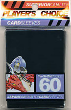 Players Choice 60 Count Black Yugioh Small Deck Protector Card Sleeves
