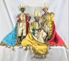 Tris Re Magos Kings 40 CM Figura Presepiali Orientales