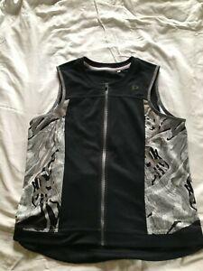 Pearl Izumi Women's Sleeveless Cycling Jersey, Full Zip, Black w/White, Size XXL