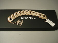 Chanel Runway Dubai Gold Pearl Shimmery Thick Chains Links Bracelet NEW in Box