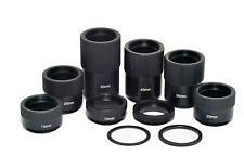 C-Mount Tube Adapter C-CS Mount Adaptor Spacer Ring Set For CCTV Lens 10 Sizes
