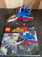 LEGO MARVEL 76076 CAPTAIN AMERICA AIRCRAFT & INSTRUCTIONS VGC FOR AGE