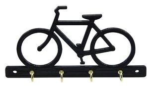 Bike Bicycle Key Rack Hooks Hanger Holder Entryway Home Storage Wall Mounted