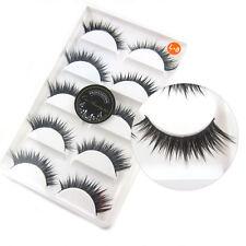 L8 5 PAIRS/LOT NATURAL Cross Winged False Eyelashes 3D Soft fake Eye Lashes