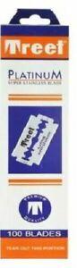 High quality genuine Treet Platinum Double Edge Razor Blades  (UK)
