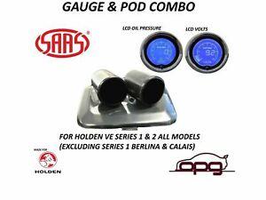 Gauge Dash Pod & Gauge Package for Holden VE SS SSV SV6 Series 2 Volts Oil Press