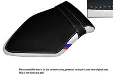 WHITE & BLACK WITH CUSTOM M3 STRIPE FITS BMW S 1000 RR 15-16 REAR SEAT COVER
